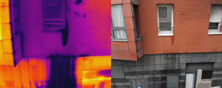 recherche de fuite par thermographie